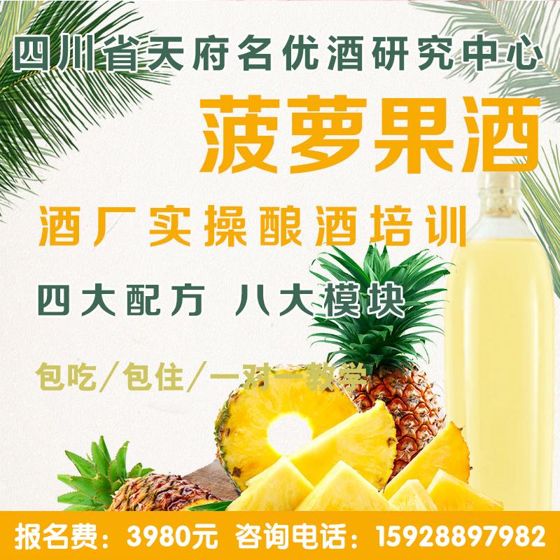 菠蘿釀酒技術培訓 菠蘿酒 發酵酒 酵素酒 果酒技術教學