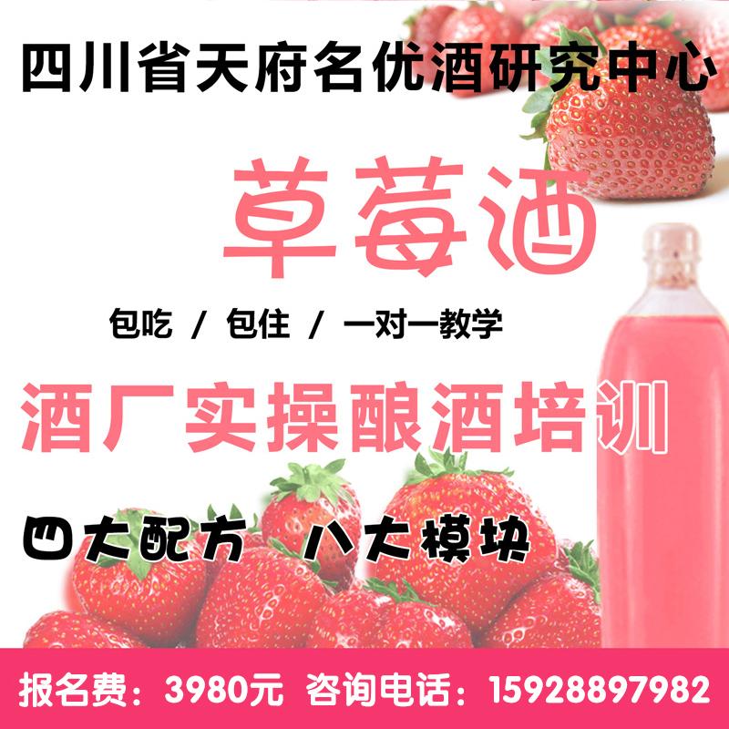 草莓釀酒技術培訓 草莓酒 發酵酒 酵素酒 果酒技術教學